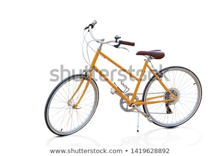 Stylish womens green bicycle isolated on white Stock photo © vlad_star
