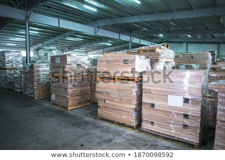 boards storing at woodworking factory workshop Stock photo © dolgachov