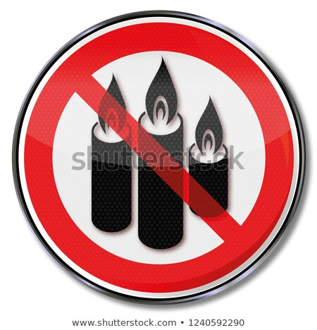 Ban of candles and candlelight in this building Stock photo © Ustofre9
