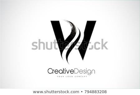 List w czarny podpisania logo wektora Zdjęcia stock © blaskorizov