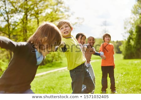 International camping kids in nature Stock photo © bluering