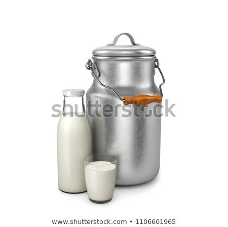 Aluminium container of milk Stock photo © grafvision