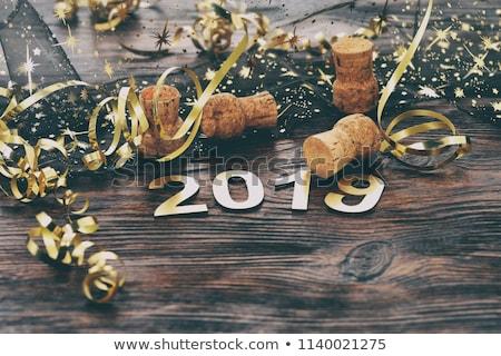 2019 new year decorative dark background Stock photo © SArts