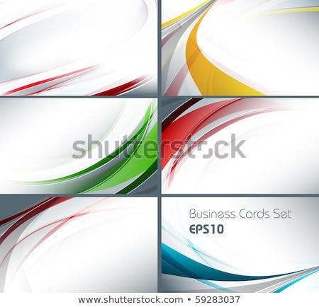 soyut · mavi · dalgalı · kartvizit · şablon · dizayn - stok fotoğraf © SArts