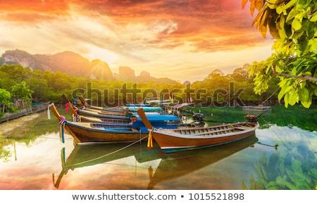 тайский лодка закат подробность природы морем Сток-фото © boggy