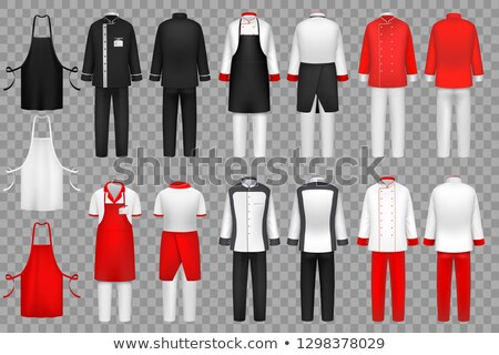 Waiter in uniform, working concept vector icons Stock photo © robuart