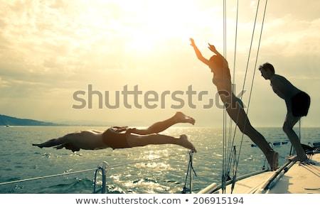 прыжки парусного лодка один модель Сток-фото © dashapetrenko