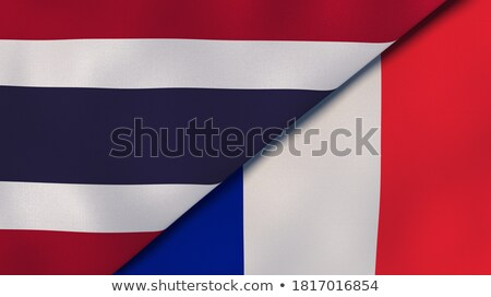 two waving flags of france and thailand stock photo © mikhailmishchenko