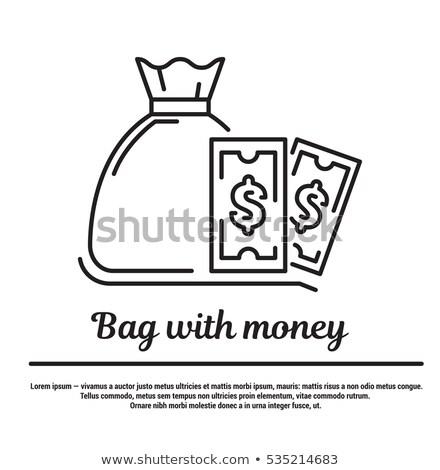 деньги веб линейный икона шаблон мешок Сток-фото © robuart