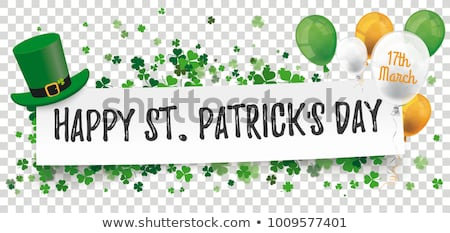 St Patricks Day Banner Transparent Background Stock photo © barbaliss