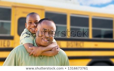 otobüs · iki · genç · Öğrenciler · temel - stok fotoğraf © feverpitch