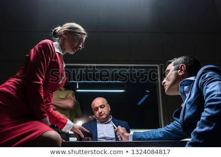 Attorney in disagreement with the prosecutor during the hearing of a suspect Stock photo © Kzenon