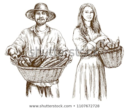 農家 · 水まき · 植物 · アイコン · 孤立した · ベクトル - ストックフォト © robuart