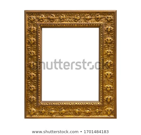 Big Retro Revival Old Gold Picture Frame Stock photo © adamr