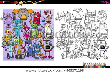 funny robot or droid cartoon character Stock photo © izakowski