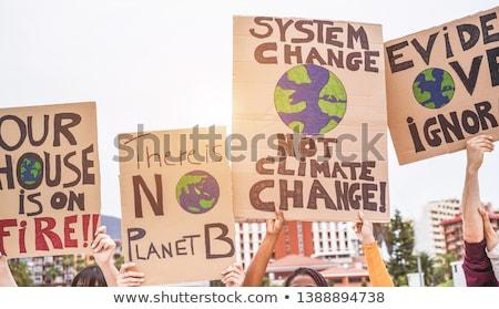 klímaváltozás · globális · megállapodás · kék · léggömb · remény - stock fotó © lightsource