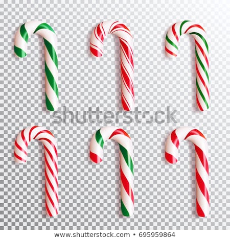 candy stick lollipop with stripes christmas sign stock photo © robuart