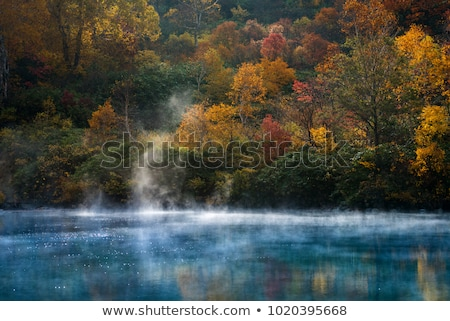 Сток-фото: Autumn Onsen Lake Aomori Japan