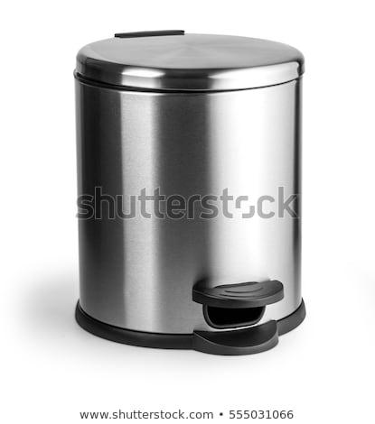 Isolado cesto de lixo branco ilustração fundo gráfico Foto stock © bluering
