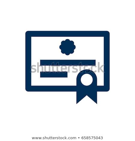 afgestudeerde · diploma · cartoon · man · cap - stockfoto © angelp