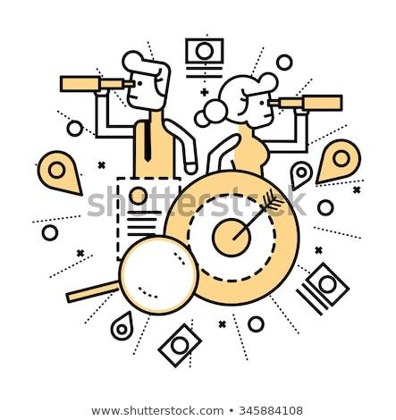 Looking for a job vector concept metaphors. Stock photo © RAStudio