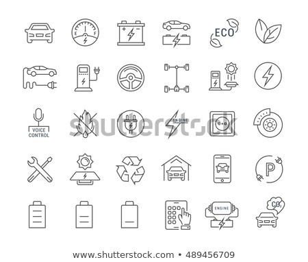 Vector electric vehicle charging stations app Stock photo © tele52