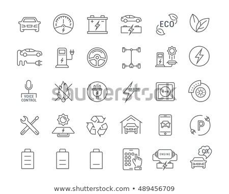 voiture · électrique · jeunes · femme · gare · permanent - photo stock © tele52