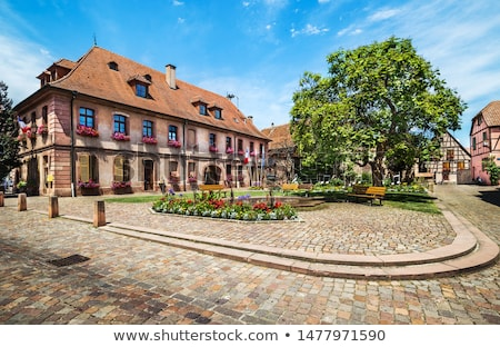 street in Bergheim, Alsace, France Stock photo © borisb17