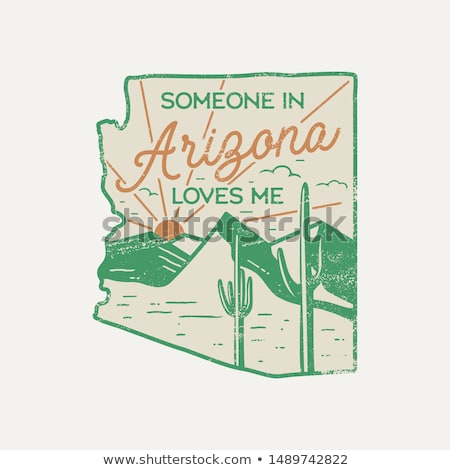 Vintage Arizona badge. Retro style US state patch, print for t-shirt and other uses. Included quote  Stock photo © JeksonGraphics