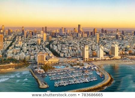 Израиль панорамный Cityscape изображение красивой закат Сток-фото © rudi1976