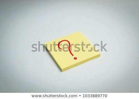 Question What If Handwritten On Sticky Note Stock photo © ivelin