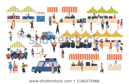 Marketplace Vegetable and Flower Shop Sellers Stock photo © robuart