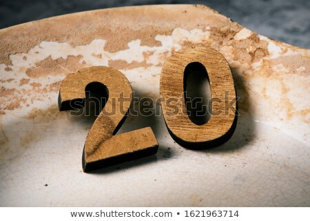 wooden three-dimensional number 20 Stock photo © nito