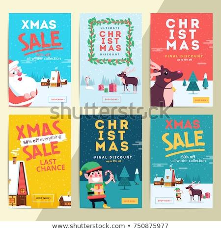 クリスマス 販売 休日 プロモーション ポスター エルフ ストックフォト © robuart