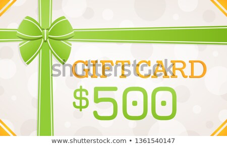 500 Dollars Gift Card, Certificate on Presents Stock photo © robuart