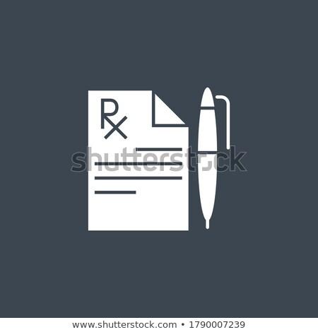 Orvosi lemez vektor ikon izolált fehér Stock fotó © smoki