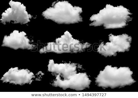 Puszysty biały chmury Błękitne niebo niebo Chmura Zdjęcia stock © iofoto