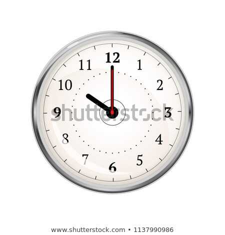 Realistic clock face showing 10-00 on white Stock photo © evgeny89