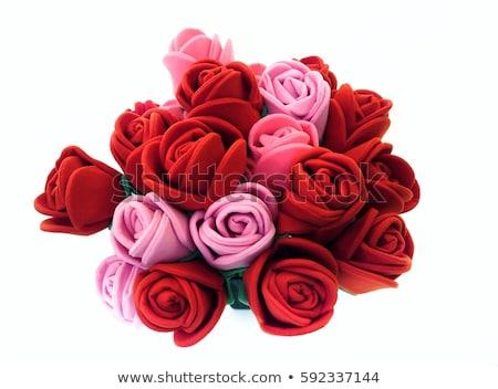 Tejido aumentó ramo aislado blanco amor Foto stock © posterize