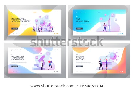 Immunization education concept landing page. Stock photo © RAStudio