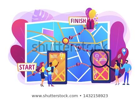 Interactive city quest concept vector illustration Stock photo © RAStudio