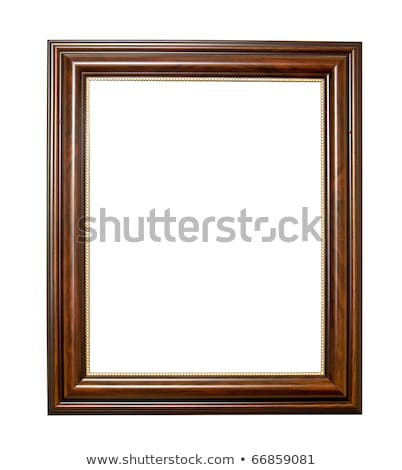 Xxl Isolated Wooden Photo Frame Stok fotoğraf © SuriyaPhoto