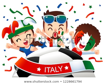 イタリア語 · サッカー · 草 · フラグ · 空 - ストックフォト © Saphira