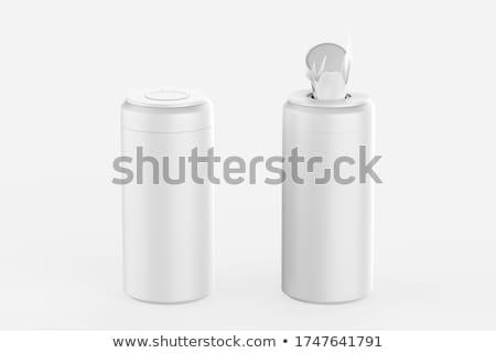 Twee verschillend technische vloeibare olie fles Stockfoto © sahua