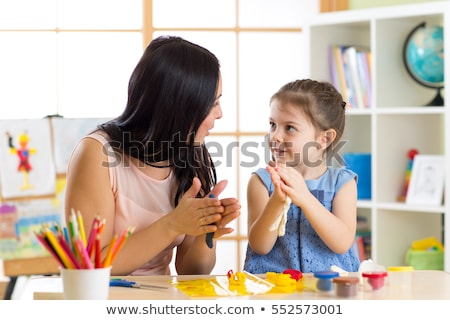 Mother with daughter and soft toy Stock photo © Paha_L