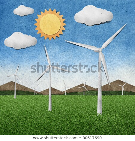 Wind power station recycled paper Stock photo © rufous