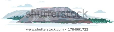 Montanha mineração desenho animado meio instável situação Foto stock © blamb