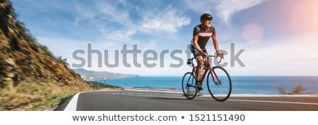 a mature man and a mountain bike stock photo © photography33