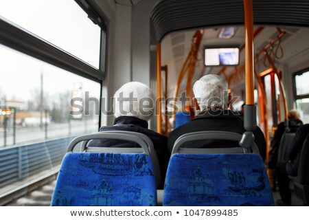 Couple sat on the bus Stock photo © photography33
