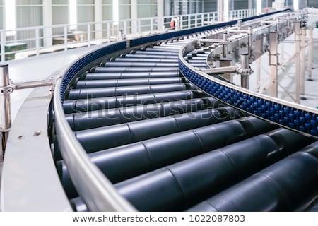 Stockfoto: Gordel · een · Open · vak · Blauw · staal